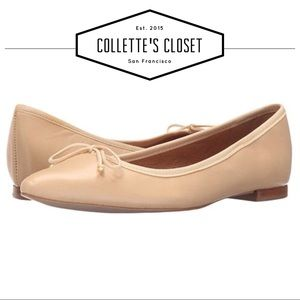 Corso Como nude Recital pointy toe flats